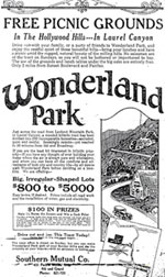 Wonderland Park Advertisement